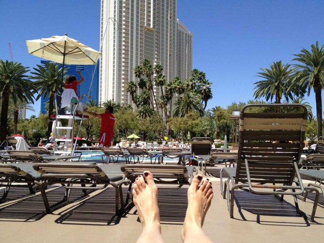 Hanging at the pool at MGM Grand during lunch break at the 2013 Future Insights Conference in Las Vegas